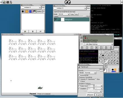 Il desktop è l'insieme degli oggetti digitali con i quali è possibile interagire  (Fonte: Wikimedia)