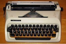 Esempio di macchina da scrivere