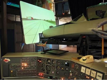 Esempio di simulatore di volo. Fonte: Wikimedia.