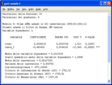 Il coefficiente theta_1 è significativamente diverso da zero.