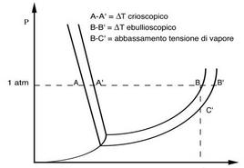 Diagramma di stato di una soluzione acquosa.