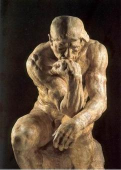 A. Rodin, Il pensatore, Musée Rodin Parigi.