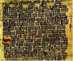 Frammento della Grammatica ca. 1435 Archivio Nazionale Ungherese – Budapest. Fonte: Summagallicana