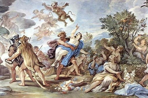 Il ratto di Proserpina di Luca Giordano. Fonte: Wikipedia