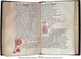Apollinaris sidonius: epistolae et carmina ms 246 Spain