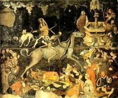 """""""Trionfo della morte"""", autore ignoto. Palazzo Abatellis, Palermo (1446). Fonte: Wikipedia"""
