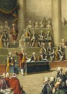 Apertura del parlamento degli ordini, gli Stati Generali, nel 1789. Fonte: Wikipedia