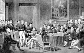 Il Congresso di Vienna in un dipinto di Jean-Baptiste Isabey (1767-1855). Fonte: Wikipedia