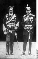 Gugliemo II e lo zar Nicola II (1905). Fonte: Wikipedia.