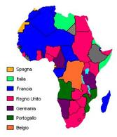 La spartizione coloniale dell'Africa. Fonte: Wikipedia.