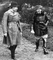 Mussolini e D'Annunzio. Fonte: Wikipedia.
