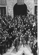Mussolini a Milano nel 1930. Fonte: Wikipedia.