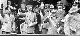 Mussolini e Hitler a Roma nel 1938. Fonte: Wikipedia.