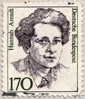 Francobollo commemorativo di Hannah Arendt (1906-1975). Fonte: Wikipedia.