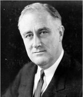 Franklin Delano Roosevelt (1882-1945). Fonte:  Wikipedia.