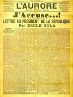 L'articolo di Emile Zola per Dreyfus nel 1898. Fonte:  Wikipedia.