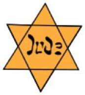 """La stella gialla con la scritta """"Jude"""". Fonte: Wikipedia."""