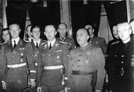 Francisco Franco con Heinrich Himmler. Fonte: Wikipedia.