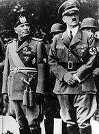 Benito Mussolini e Adolph Hitler. Fonte: Wikipedia.