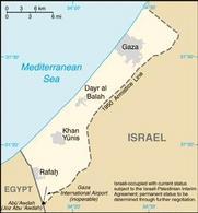 La striscia di Gaza. Fonte: CIA Factbook .
