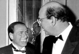Silvio Berlusconi e Bettino Craxi. Fonte: Wikipedia