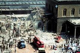 La stazione di Bologna dopo l'attentato. Fonte: Wikipedia.