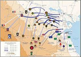 Piani strategici dell'Operazione Desert Storm. Fonte: Wikipedia.
