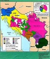Mappa etnica dell'ex-Jugoslavia nel 1991. Fonte: Wikipedia.