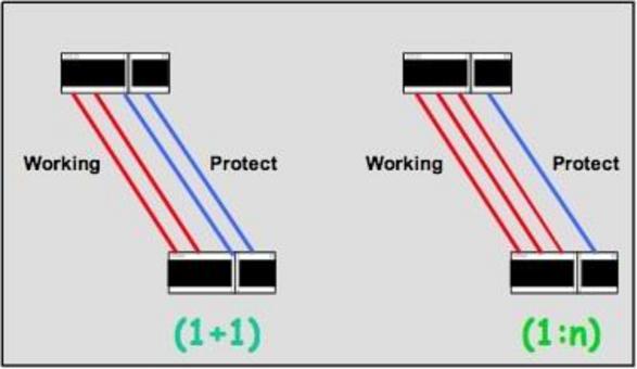 Due nodi connessi con tutti gli altri con due o più set di link