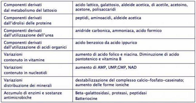 Composizione chimica (percentuale media) del latte
