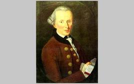 Ritratto di I. Kant (Schiller-NationalMuseum Marbach), ad opera di Becker (1768). Tratta da: kant.uni-mainz.de