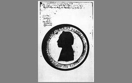 Silhouette di Kant dalla copia personale della Bibbia. Tratta da: kant.uni-mainz.de