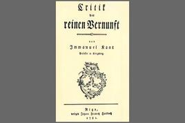 Frontespizio della prima edizione della Kritik der reinen Vernunft (1781). Tratta da: wikipedia