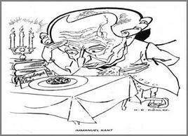 Caricatura di H. E. Köhler. Tratta da: kant.uni-mainz.de