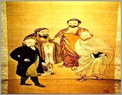 Die vier Weltweisen: Kant mit Buddha, Sokrates, Konfutse (1893). Tratta da: kant.uni-mainz.de