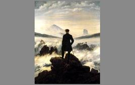 C. D. Friedrich, Viandante sul mare di nebbia, 1818 (Kunsthalle, Amburgo). Tratta da: wikipedia