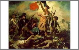 E. Delacroix, La libertà che guida il popolo, 1830 (Museo del Louvre, Parigi). Tratta da: wikipedia