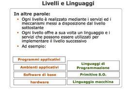 Livelli e linguaggi