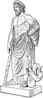 Asclepio,Dio Greco della Medicina. Fonte: Wikimedia