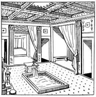 An illustration of an atrium. Fonte: wikimedia commons