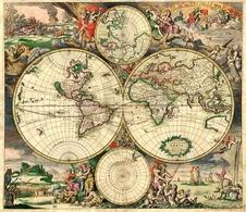 World Map 1689. Fonte: wikimedia commons