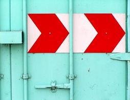Arrow sign, Port de Rouen. Fonte: Wikimedia Commons