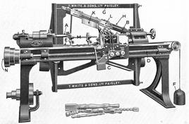 Back-knife lathe, Carpentry and Joinery, 1925. Fonte: Wikimedia Commons