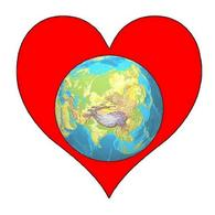 Planet Earth within a Heart. Fonte: Wikimedia Commons