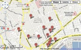 Mappa delle biblioteche. Fonte: Università Federico II