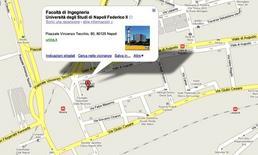Mappa della sede. Fonte: Google Maps
