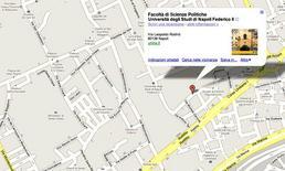 Mappa delle sedi. Fonte: Google Maps