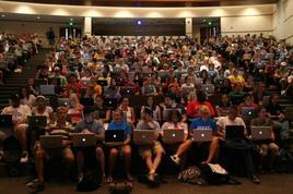Studenti a lezione. Fonte: Flickr