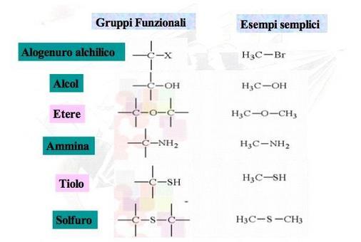 Gruppi funzionali con carbonio legato ad un atomo più elettronegativo attraverso legame singolo