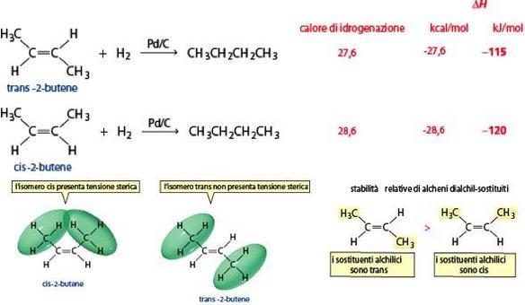 Stabilità relative isomero cis-trans